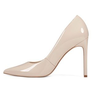 NINE WEST NUDE PATENT LEATHER PUMPS SIZE 7 NWT